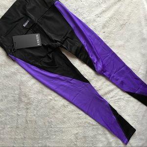NWT K-Deer Leggings Bright Purple Sneaker Reflect